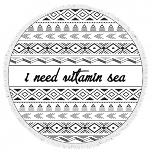 I-Need-Vitamin-Sea-Round-Towel
