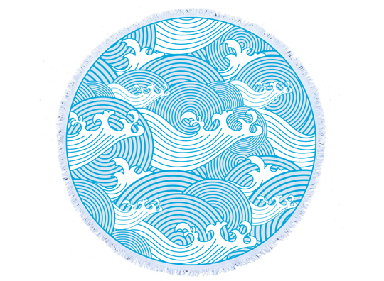 Japanese-Waves-Round-Towel