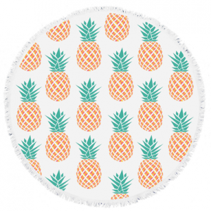 Pineapples-Round-Towel